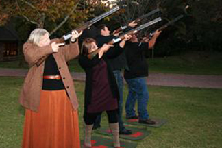 night-laser-clay-pigeon-shooting